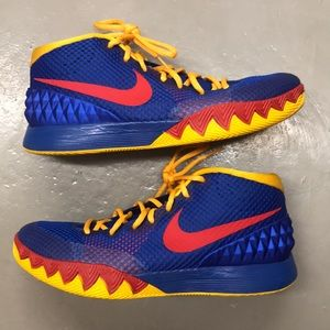 Nike ID Kyrie 1 size 11 Blue Red Yellow Custom